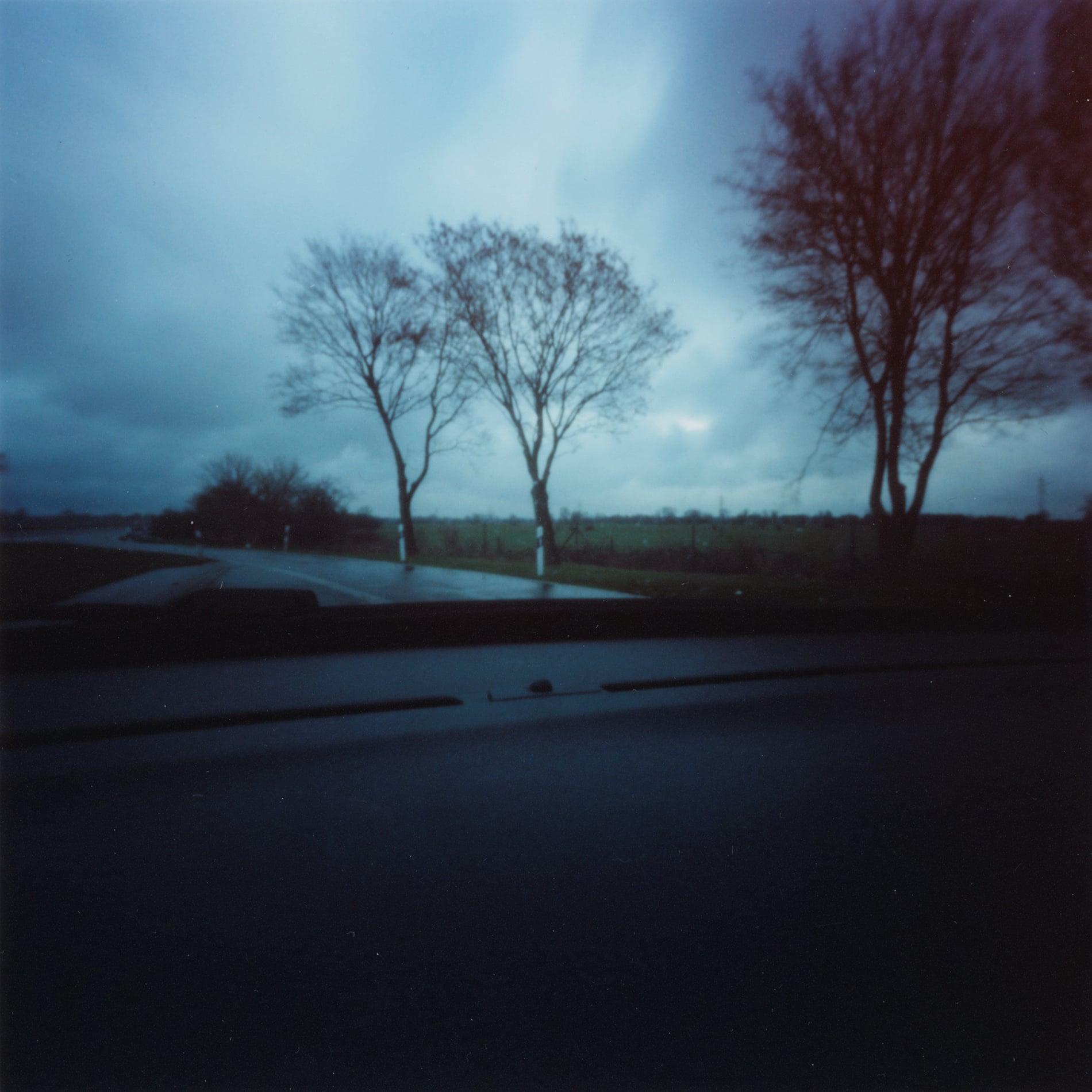 'dashboard pinhole on the road', 2019, c-print, 20x20cm