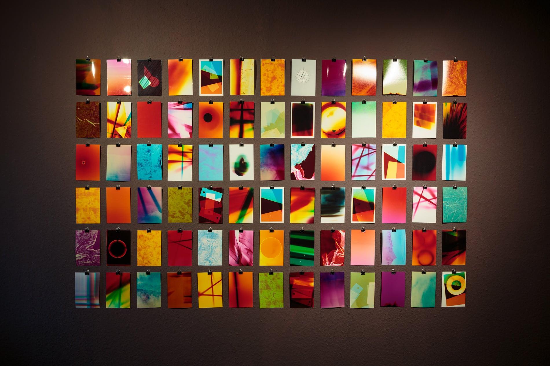 'colour studies', 2018, c-prints, unique, 10x15cm