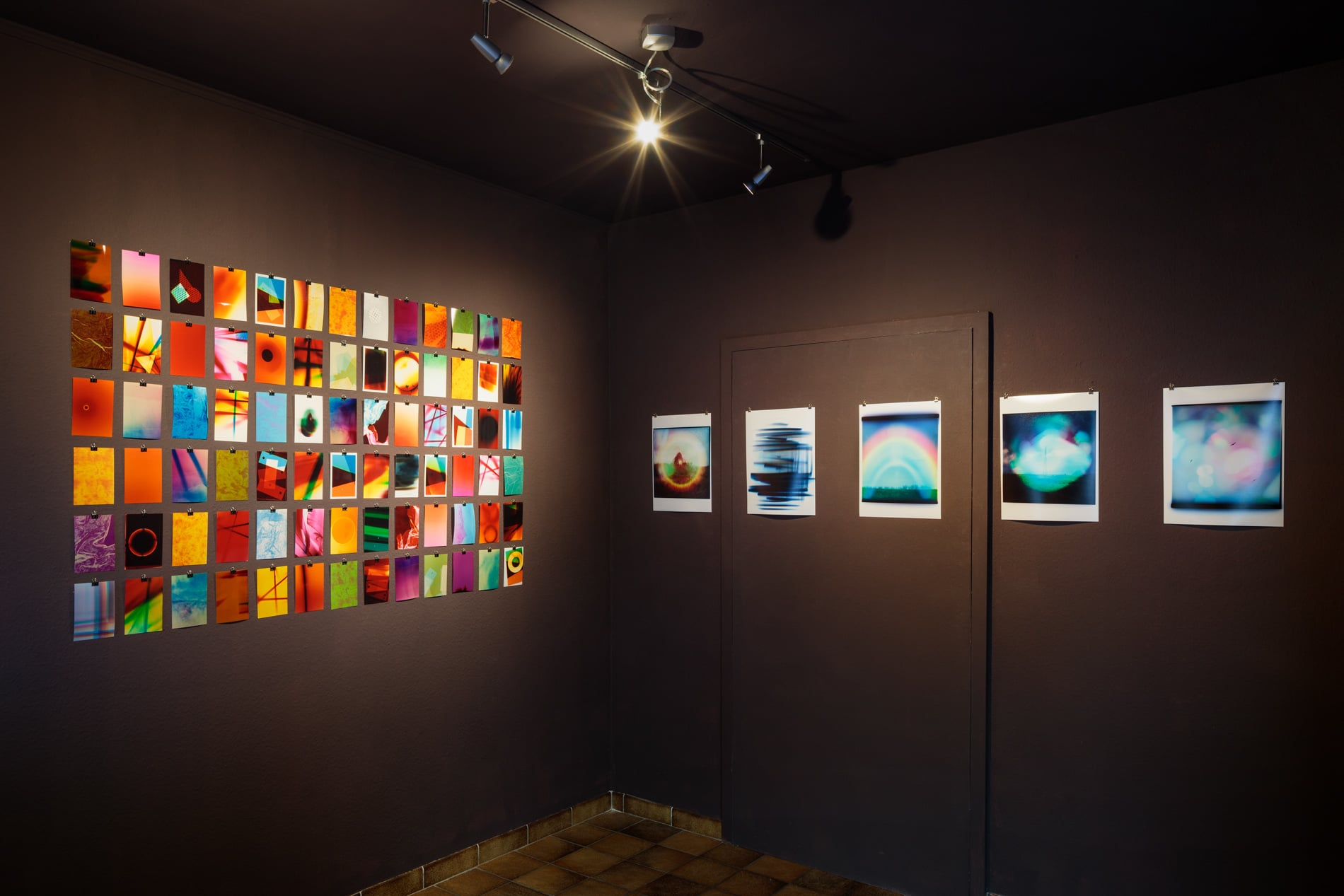 Left: 'colour studies', 2018, c-prints, unique, 10x15cm Right: 'Celestial', 2018, c-prints, unique, 30x40cm